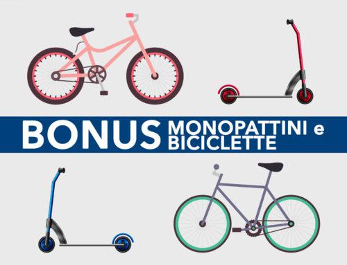 Bonus monopattini e biciclette