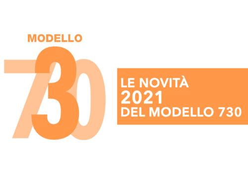 Le novità 2021 del modello 730