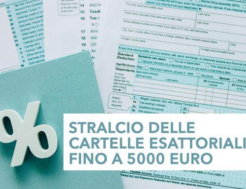 Stralcio delle cartelle esattoriali fino a 5000 euro